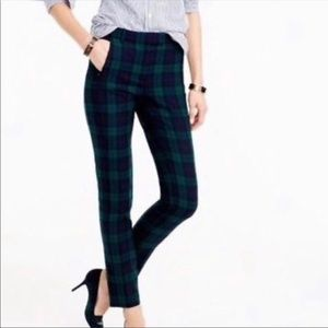JCrew Maddie pant black watch tartan size 000
